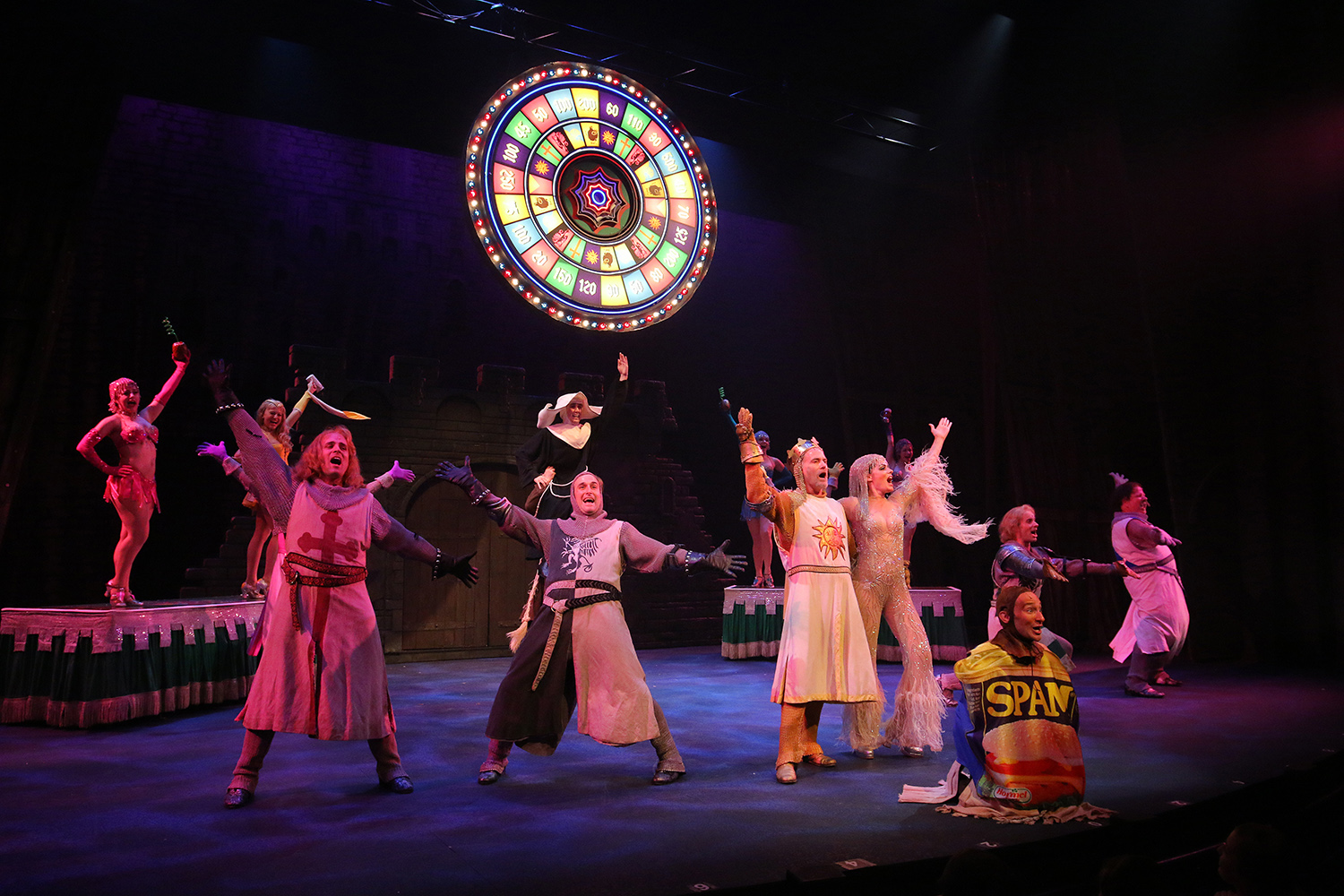 Arkansas Repertory Theatre's production of Spamalot. photos by Stephen B. Thornton